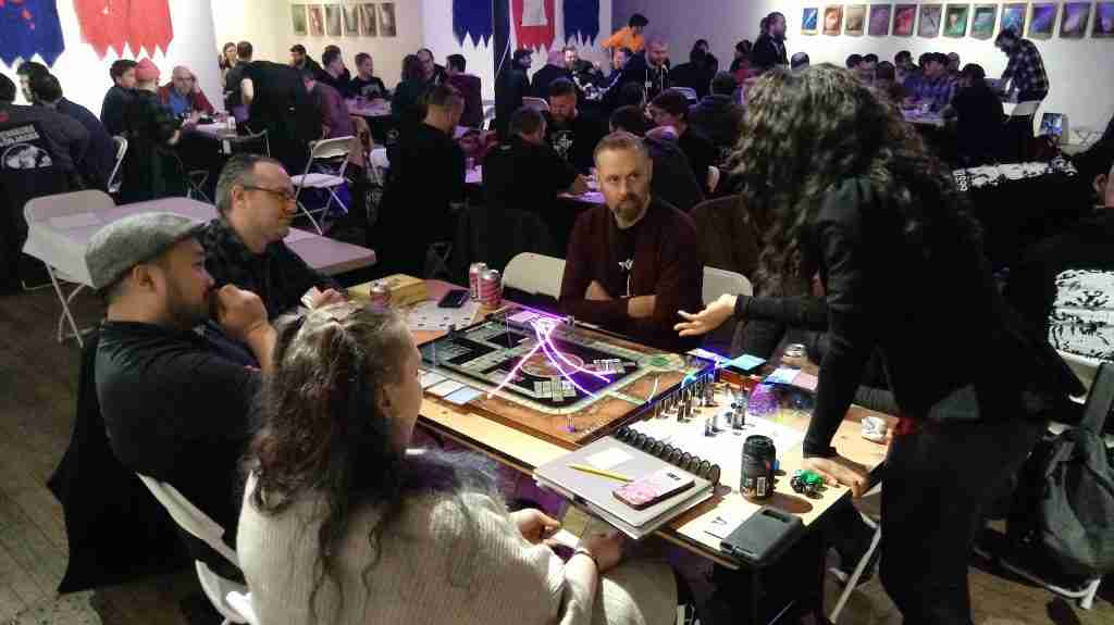 Sugar Gamers founder Keisha Howard playtesting Project Violacea during the Level Eater main event.