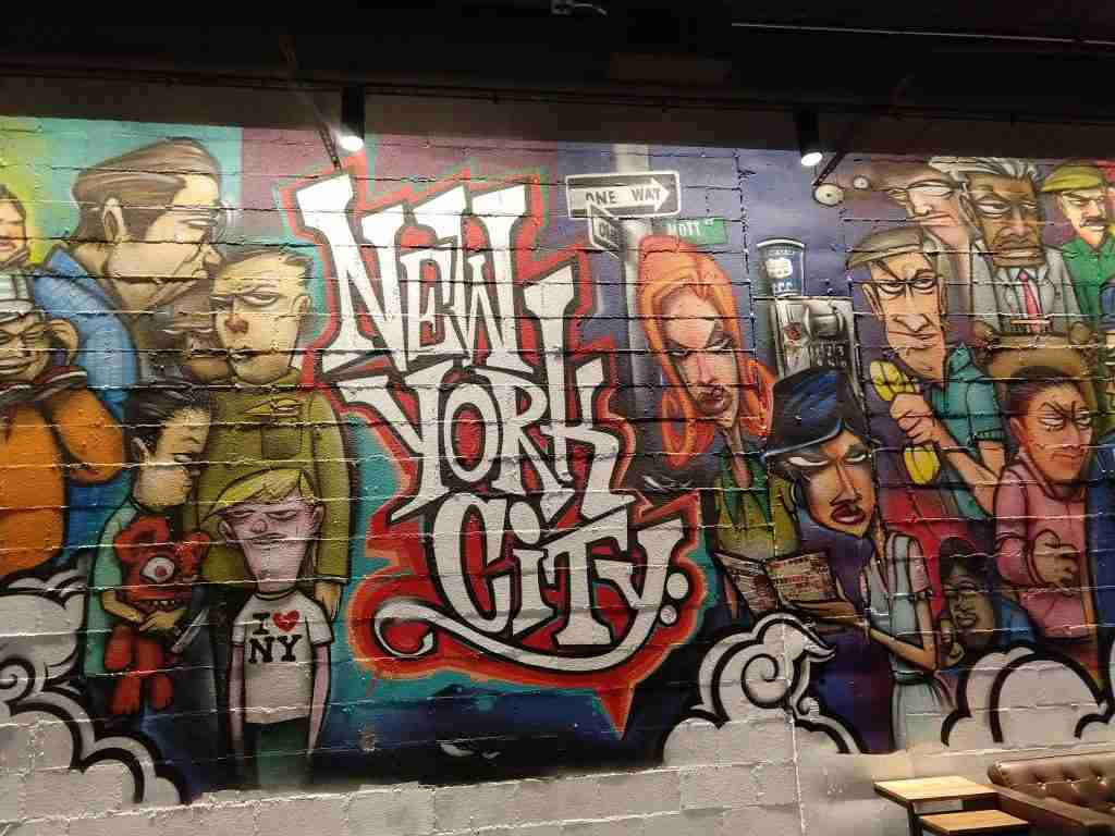 Mural by Mr Ewok One at OS NYC