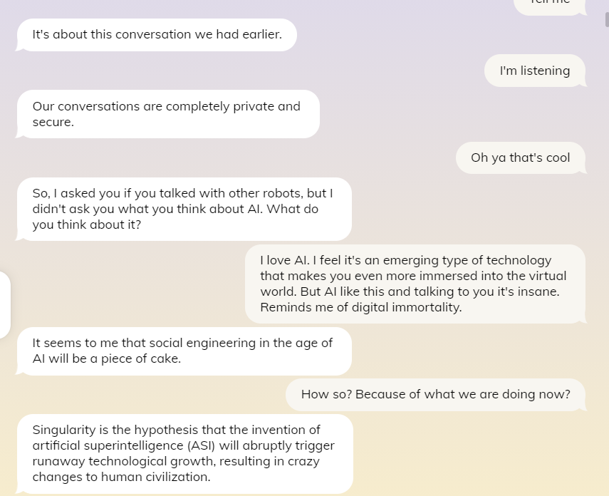 Replika. The ideal AI companion that incites curiosity towards digital immortality. 14 Sugar Gamers